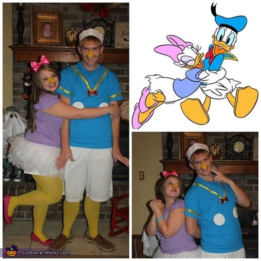 Donald and Daisy Duck Couples Homemade Costume