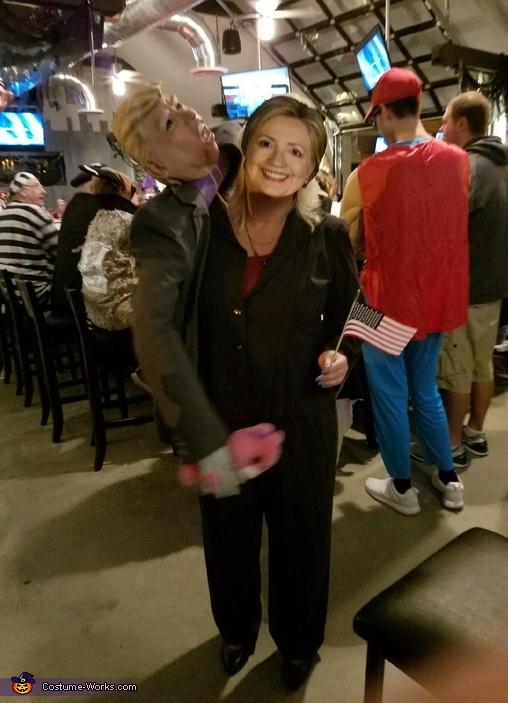 "Donald grabs Hillary's ""pussycat"" Costume"