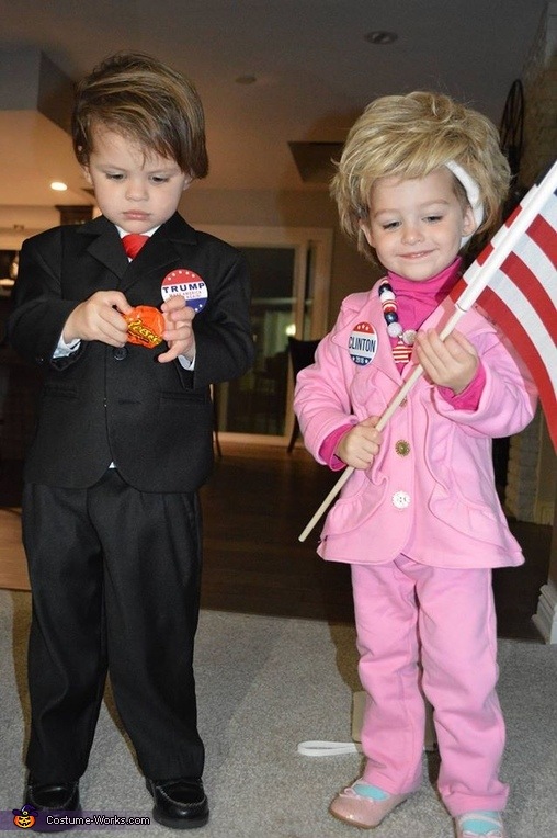Donald and Hillary 2016 Costume
