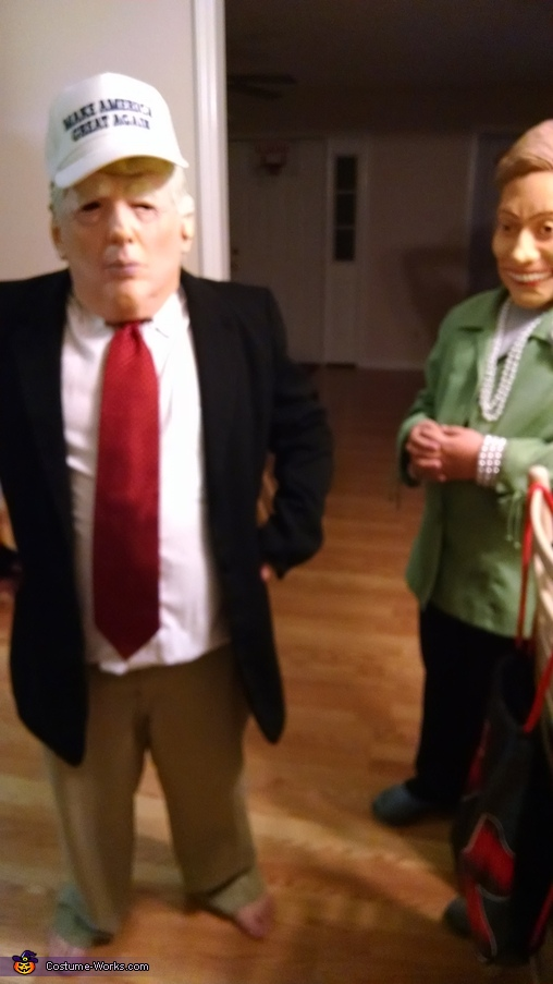 Donald Trump and Hillary Clinton Costume