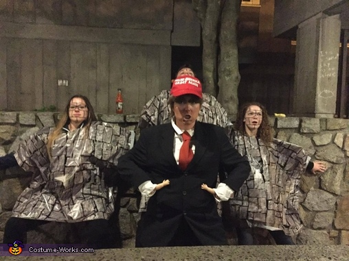 Donald Trump and the Wall Costume