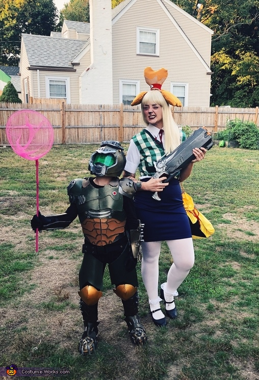 Doomslayer and Isabelle Costume
