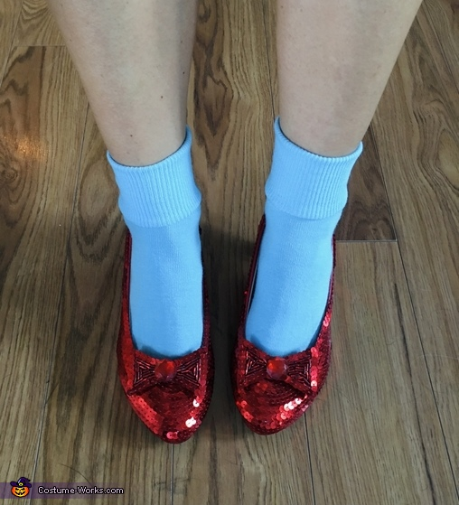 DIY Ruby Slippers, Dorothy and Scarecrow Costume