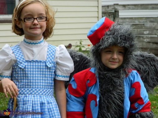 Dorothy and The Flying Monkey Kids Costumes