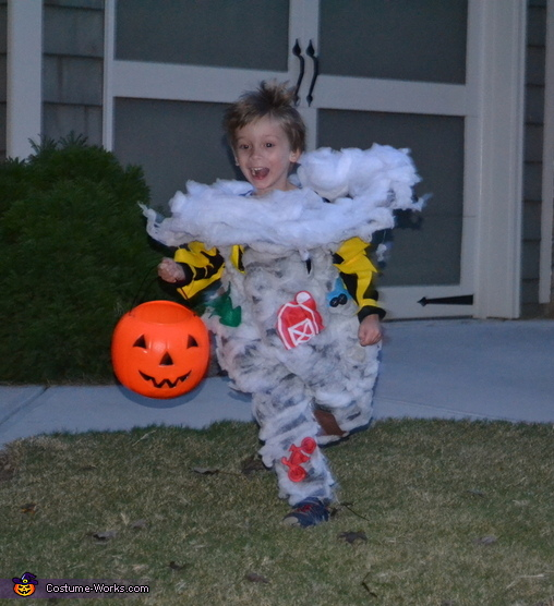 Toddler Tornado, Dorothy and Tornado Costume