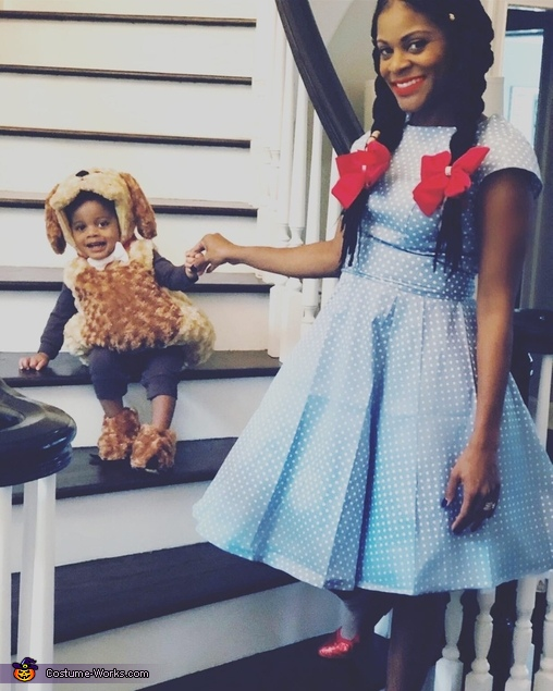 Stairwell to the yellow brick road 2, Dorothy and Toto Costume