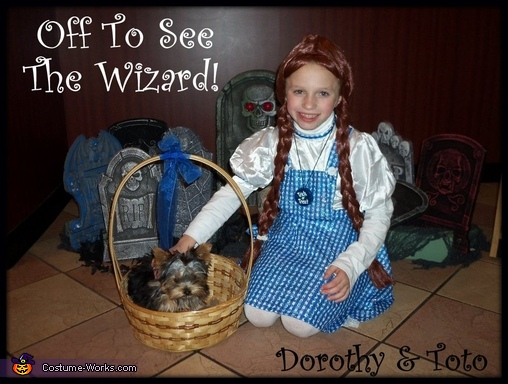 Dorothy & Toto Off To See The Wizard, Dorothy and Toto Halloween Costume