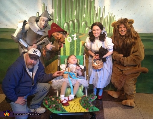 Meeting the Wizaed of Oz characters, Dorothy's Wizard of Oz Costume