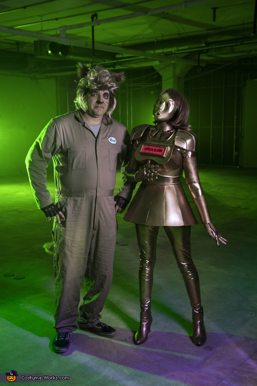 Barf and Dot with mask, Dot & Barf from Spaceballs Costume