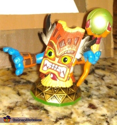 The Model (this is the character he wanted to be), Double Trouble Skylander Costume