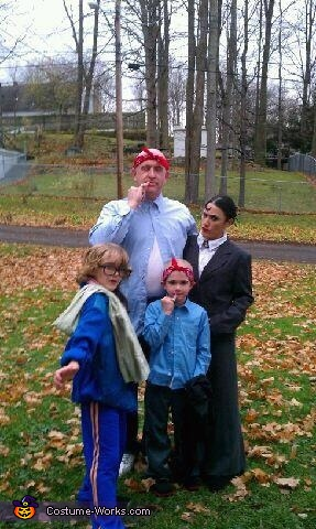 Austin Powers, Mini Me, Dr. Evil and Frauline Family Photo, Austin Powers: Mini Me, Dr. Evil and Frauline Costume