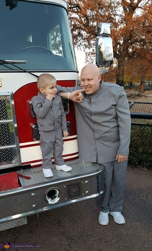 Dr. Evil and Mini Me Costume