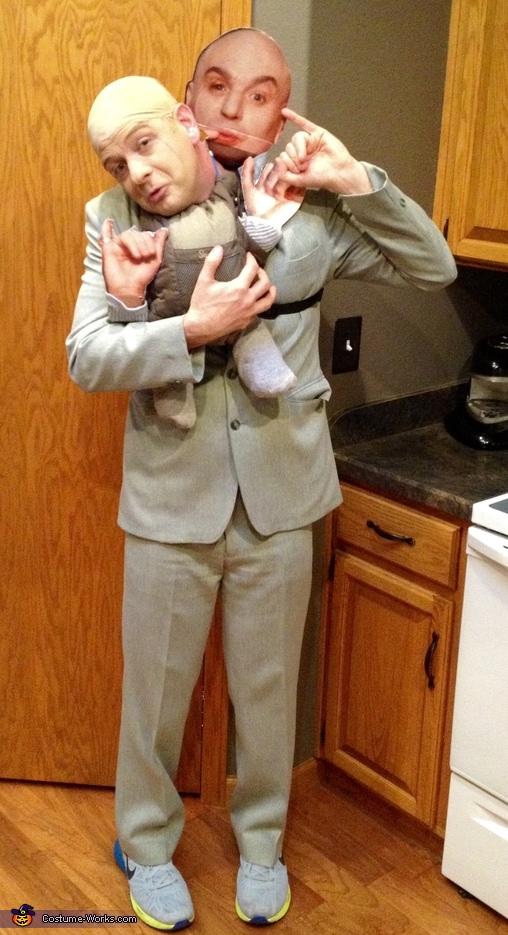 Cheap Costume Ideas For Men: Dr. Evil & Mini Me Costume
