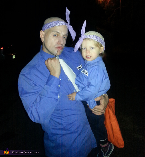Dr. Evil & Mini Me in Prison Outfits Costume