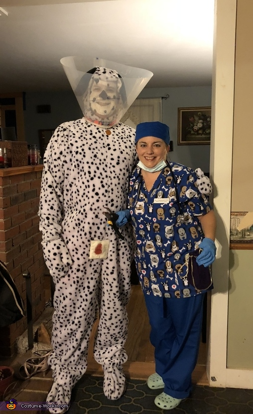 Dr. I. Hackemoff and her patient, Lucky Costume