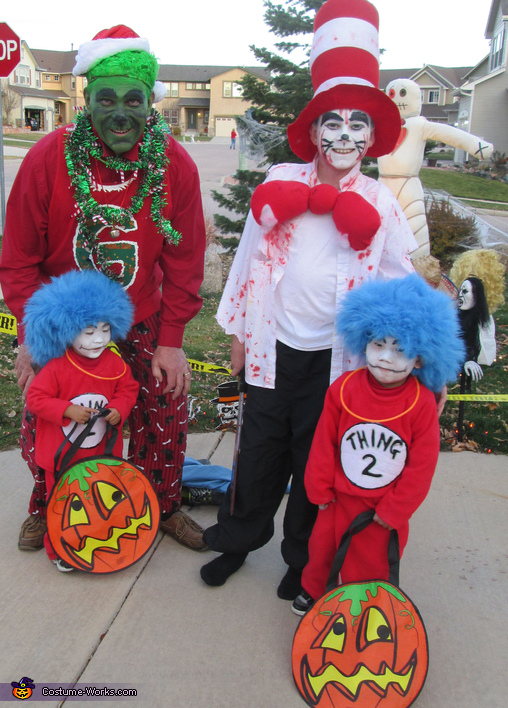 The Guys Pose for a Picture!, Dr. Seuss Characters Family Costume