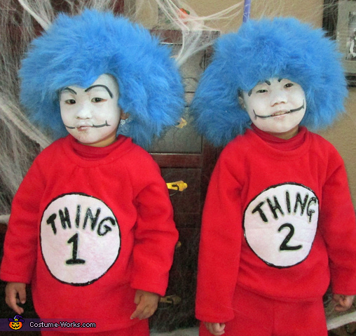 Thing 1 and Thing 2--Their 1st Halloween in the USA! What Great Sports!, Dr. Seuss Characters Family Costume