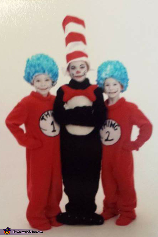 Dr Suess Cat in the Hat and Thing 1 and Thing 2 Costume