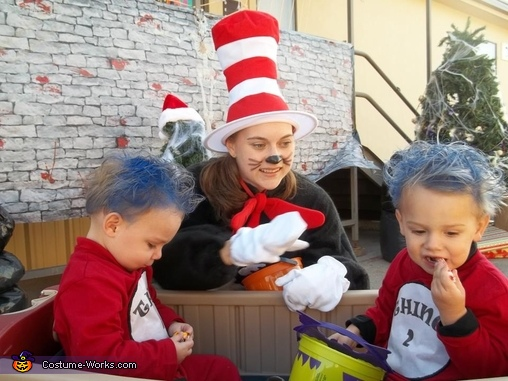 Dr. Suess Family Costume Thing 1, Thing 2 and Cat in the Hat