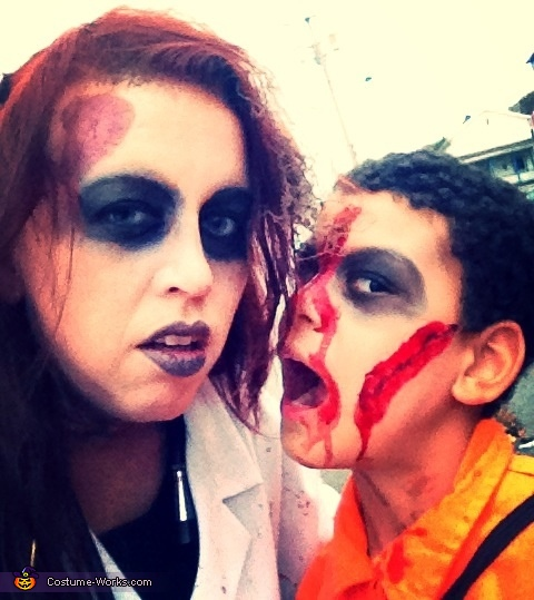 Mother and son zombies, Dr. Zombie Costume