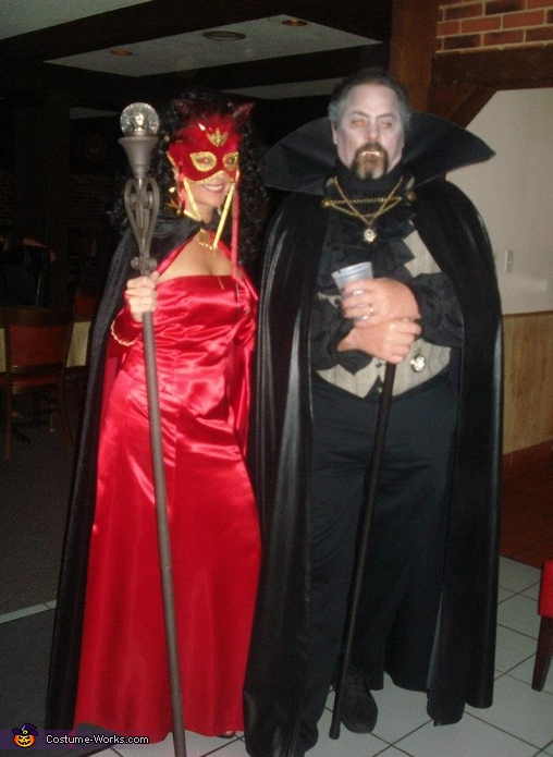 Dracula and She Devil Couple Costume