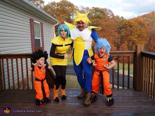 Dragon Ball Z Family Homemade Costume