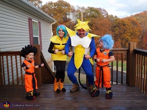 Dragon Ball Z Family Homemade Costume