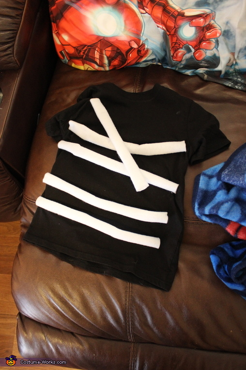 Shirt with Ribs, Dry Bones Costume