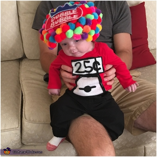Dubble Bubble Gumball Machine Homemade Costume
