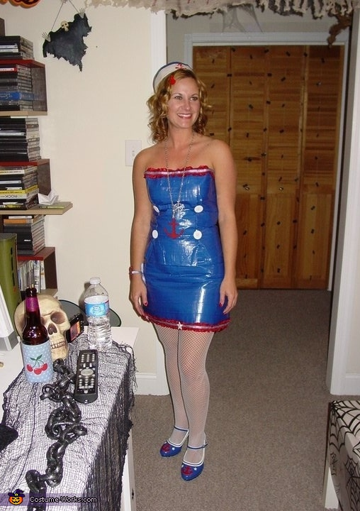 Duct Tape Sailor Girl Costume