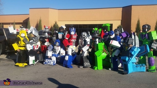 Duct Tape Transformers Homemade Costume