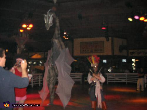 towering captain jack sparrow, Fire Breathing Dragon Costume
