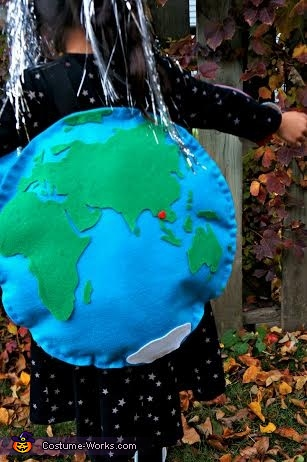 Earth view from the back, the Eastern Hemisphere, Earth and Beyond Costume