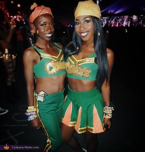 East Compton Clover Cheerleader Homemade Costume