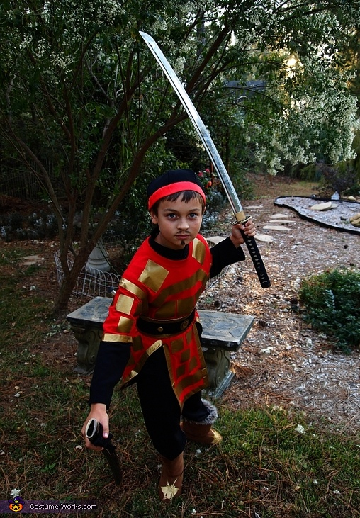 Eastern Warrior - Homemade costumes for boys