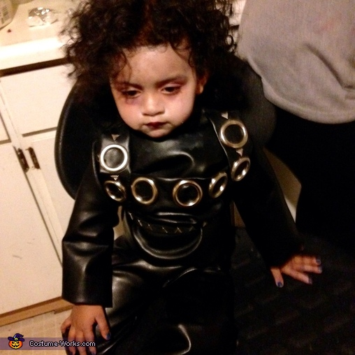In the making, Edward Scissorhands Baby Costume