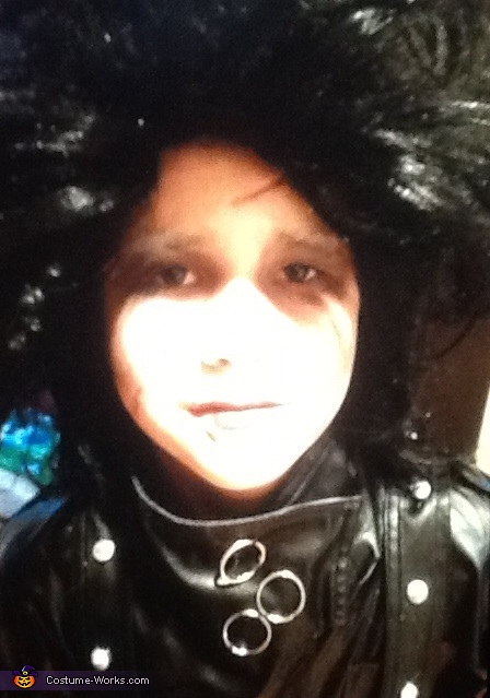 Homemade Edward Scissorhands Costume for Boys