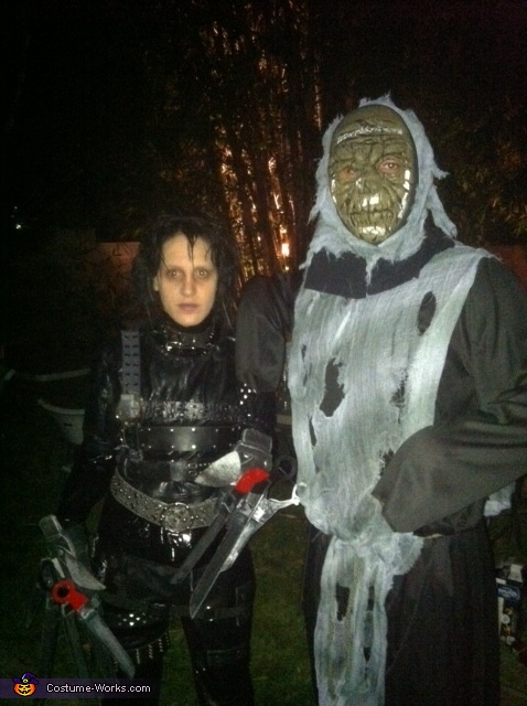 edward scissorhands with schredded nightmare!!, Edward Scissorhands Costume