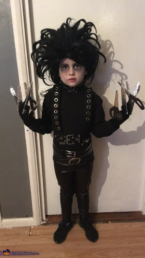 Boy's Edward Scissorhands Homemade Costume