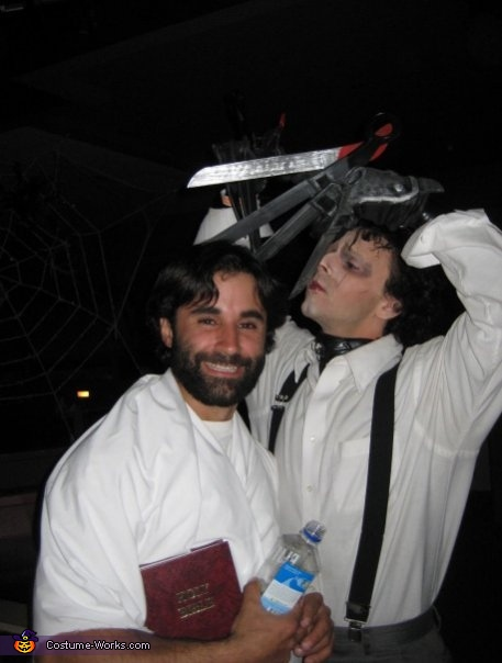 Must always be in character of course, Edward Scissorhands Costume