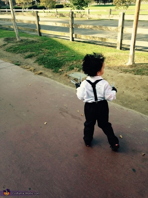 From behind, Edward Scissorhands Toddler Costume
