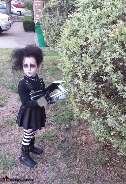 cutting the hedges, Edward Scissorhands Costume