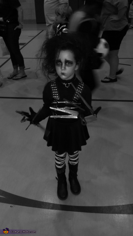 black and white, Edward Scissorhands Girl's Costume