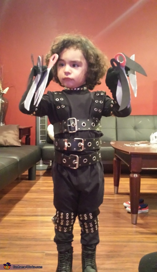 getting ready for halloween, Edward Scissorhands Costume