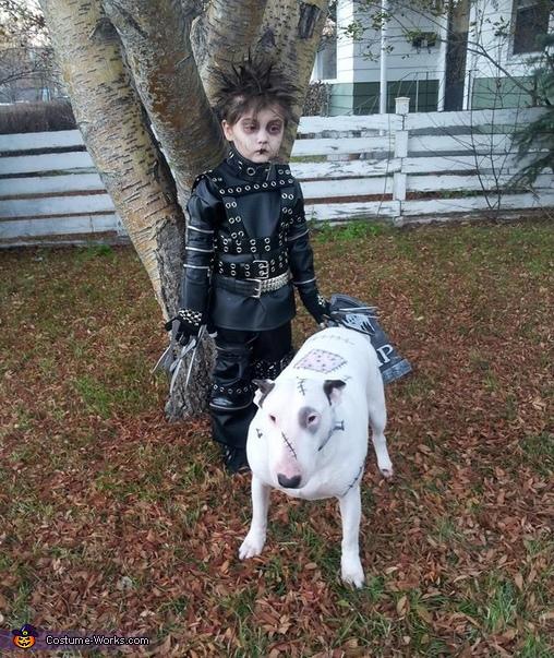 Edward Scissorhands and Frankenweenie Costume