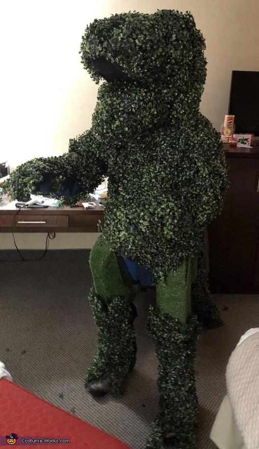 Edward Scissorhands and T-Rex Shrub Homemade Costume