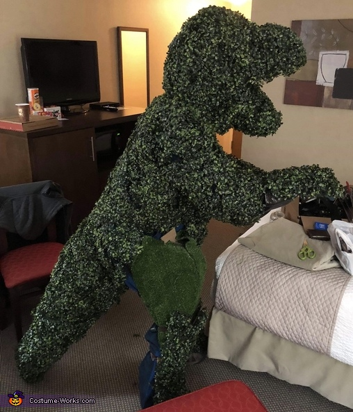Edward Scissorhands and T-Rex Shrub Homemade Costume