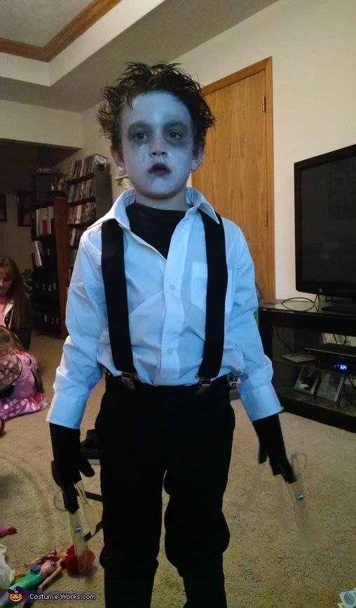 Edward Scissorhands Boy Homemade Costume