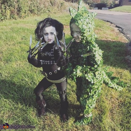 Edward Scissorhands & Dinosaur Bush Costume
