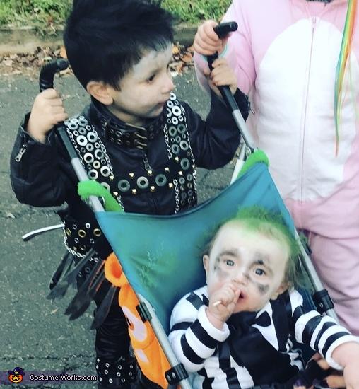 Aidan and jaxon, Edward Scissorhands Costume